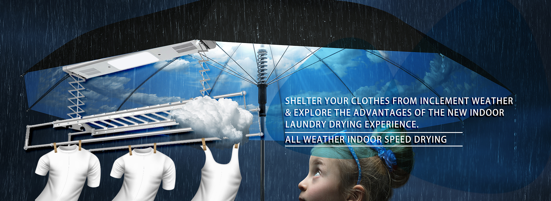 mensch - all weather indoor speed drying laundry system
